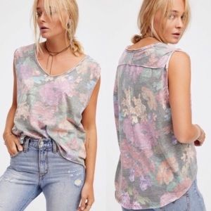 Free People Gardenia scoop hi-lo top